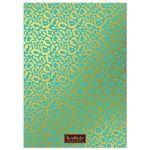 Aqua Blue & Gold Leopard Print Sweet 16 Party Invitations back