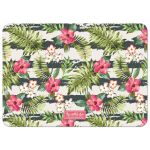 Frangipani & Hibiscus Luau Adult Birthday Party Photo Invitation back