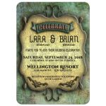 Medieval Scrollwork With Simulated Patina Wedding Invitation