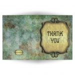 Medieval Scrollwork With Simulated Patina Blank Thank You Card