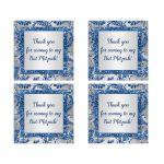 Best bat mitzvah winter wonderland party favor sticker