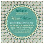 Green-PolkaDots-Bridal Shower Invitation