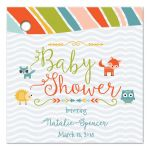 Woodland animals tribal baby shower favor gift tags