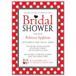 Bridal Shower Invitations - Polka Dot Red and White