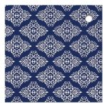 Great navy blue and silver grey damask wedding shower favor tags with glitter
