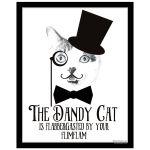 Best cat art print with moustache and victorian insult
