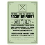 Bachelor Party Invitation - Retro Hipster Golf