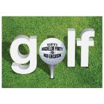 Bachelor Party Invitation - Golf Ball on the Green