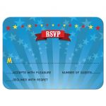 Bar Bat Mitzvah Reply RSVP Card - Circus Carnival Big Top