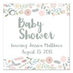 Sweet watercolor floral baby shower favor gift tags
