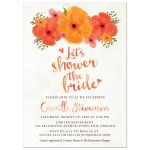 Watercolor Summer Garden Florals Bridal Shower Invitations front