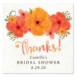 Watercolor Summer Garden Florals Thank You Favor Tags