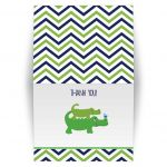 Preppy Alligator Folded Thank you note cards baby shower or birthday