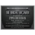 Bridal Wedding Shower Invitation - Vintage Movie Title Screen