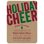 Rustic Holiday Cheer Party Invitations front
