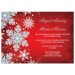 Reception Only Invitations - Royal Red White Blue Snowflake
