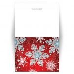 Note Cards - Royal Red White Blue Snowflake