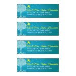 Bat Mitzvah Address Labels - Turquoise Ornate Tree of Life with Dove