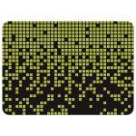 Green, black, and yellow binary code digital pixel gamer Bar Mitzvah invitation back