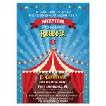 Bar Bat Mitzvah Reception Insert Card - Circus Carnival Big Top