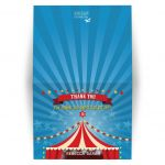 Bar Bat Mitzvah Thank You Card - Circus Carnival Big Top