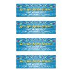 Bar Bat Mitzvah Mailing Labels - Circus Carnival Stars