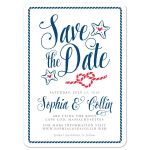 Modern Calligraphy Nautical Save The Date Cards