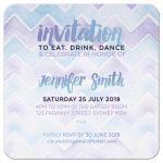 Bridal Shower | Purple Aqua Chevron pattern invitation