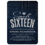Denim & Diamonds Sweet 16 Party Invitations