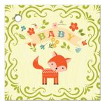 Woodland fox baby shower favor gift tags