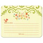 Words of advice woodland fox baby shower cards