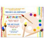 Art Party Boy or Girl Birthday Invitation