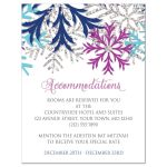 Accommodations Cards - Turquoise Navy Orchid Silver Snowflake