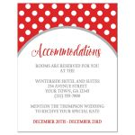 Accommodations Cards - Gray and Red Polka Dot