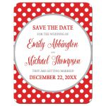 Save the Date Cards - Gray and Red Polka Dot