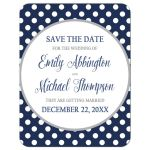 Save the Date Cards - Gray Navy Blue Polka Dot