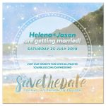 Dream Beach Wedding Save the Date
