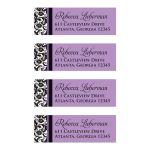 Best black, white, purple damask return address mailing labels