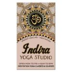OM Yoga Business Card | Blush Rose & Gold Glitter