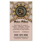 OM Yoga Business Card | Blush Rose & Gold Glitter