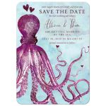 Nautical Vintage Octopus Save The Date Cards