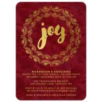 Gilded Joy Corporate Holiday Party Invitations