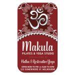 OM Yoga Business Card | Red White Batik