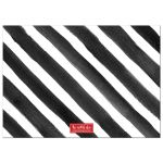 Painted Black & White Stripes Merry Everything Photo Holiday Cards back