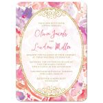 Blissful Blooms Watercolor Floral Wedding Invitations