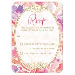 Blissful Blooms Watercolor Floral Wedding RSVP Cards