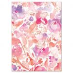 Blissful Blooms Watercolor Floral Wedding RSVP Cards back