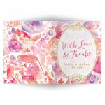 blissful Blooms Watercolor Floral Personalized Thank You Cards