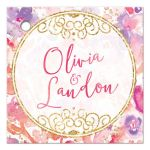 Blissful Blooms Watercolor Floral Personalized Favor Tags