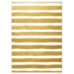Pink Floral & Gold Stripes Wedding RSVP Cards back